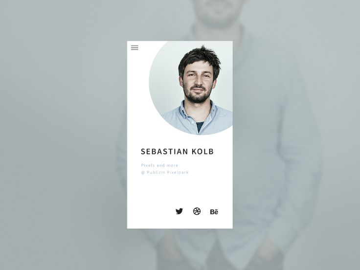 Daily UI #006 User Profile (http://dailyui.co)