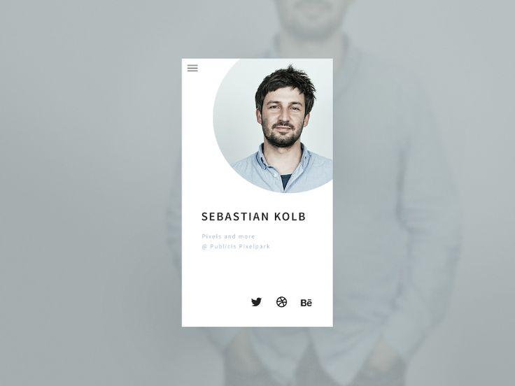Daily UI #006 User Profile (http://dailyui.co)
