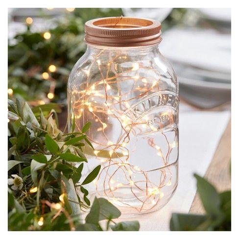 Ginger Ray Rose Gold Led String Table Lights Beautiful Botanics : Target