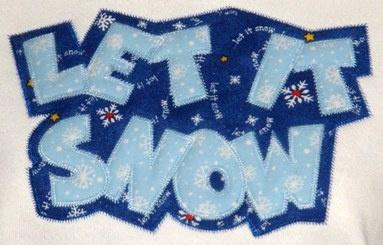Free Let it snow applique