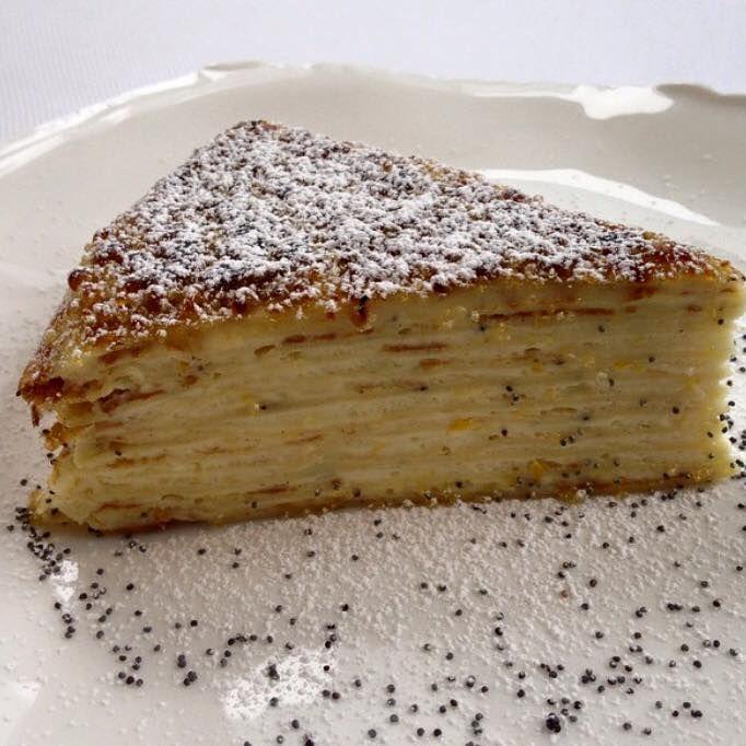 Meyer Lemon Crepe Cake at Jean Georges Restaurant