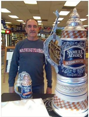 Congratulations Daniel on winning the #SamuelAdams beer stein! Craig location of Las Vegas Liquor Outlet!  #LiquorOutlet http://lvliquoroutlet.com/