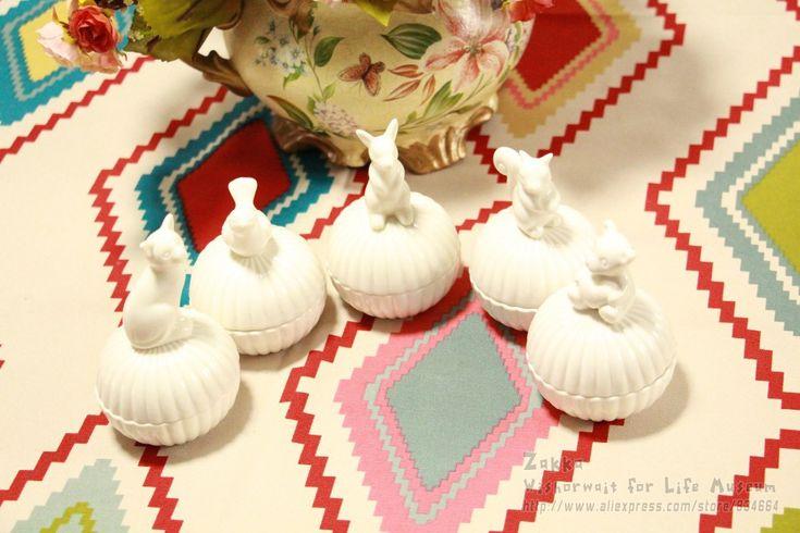 Бесплатная доставка Новое прибытие Zakka 1 Шт. Белый Милые Животные керамические коробки шкатулки Для Хранения Милые девушки подарок украшения Спальни купить на AliExpress