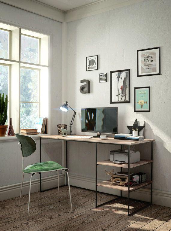 DIY befleckter hölzerner Schreibtisch