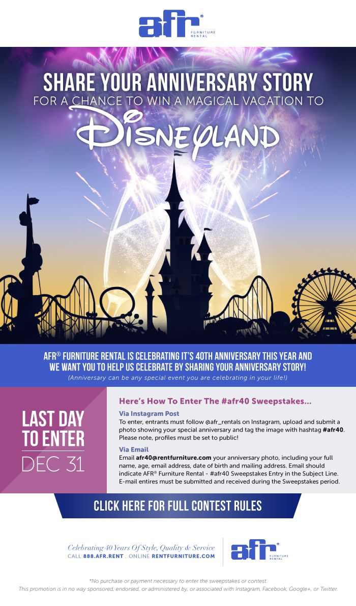 We Are Celebrating 40 Share Your Anniversary Story For A Chance To Win A Magical Vacation