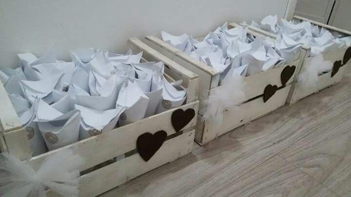 Cassette legno - coni porta riso