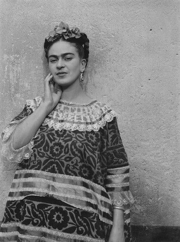 Frida Kahlo by Leo Matiz, 1946. See version from vintage everyday: 40 Black and White Portraits of Frida Kahlo from between the 1930s and 1940s