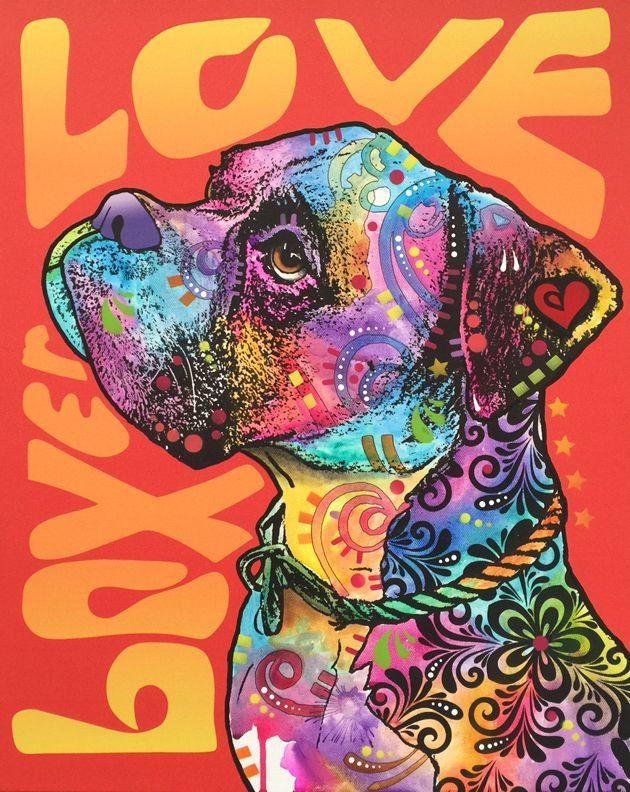 BOXER LOVE (Original Multiple on Canvas) – Dean Russo Art