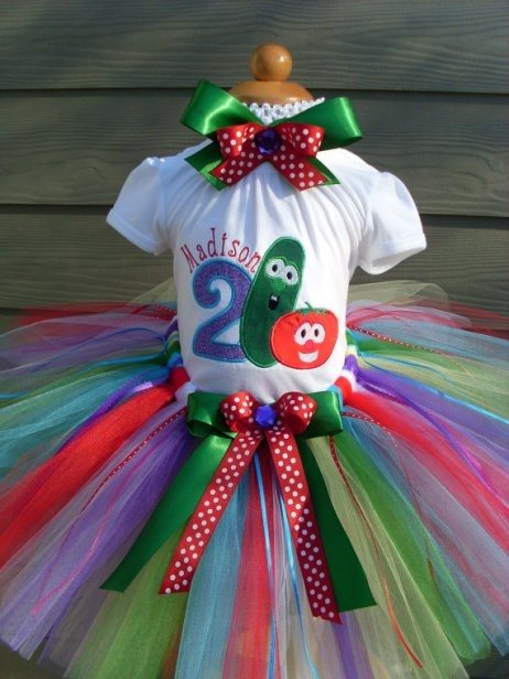 Cute Girls Veggie Tales Birthday Theme Tutu Set...something like this would of COURSE be cute :)