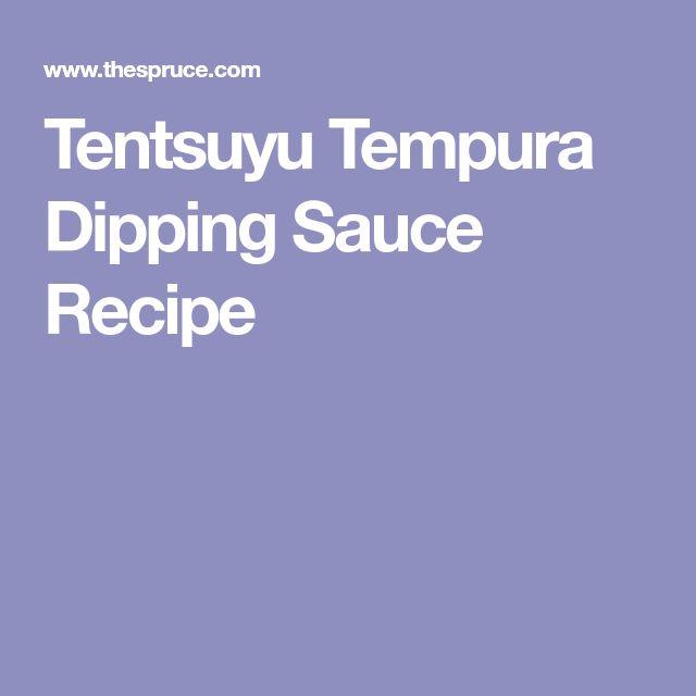 Tentsuyu Tempura Dipping Sauce Recipe