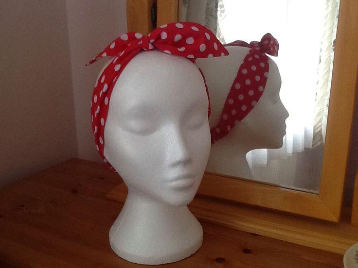 Handmade 'Rockabilly' style headband.  Look up Felicity-Ann Bags on Facebook