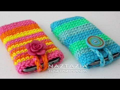 DIY Learn How to Crochet Easy Cell Phone Tablet Case Cover Holder iPhone iPod Samsung Smartphone - YouTube