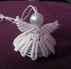 Macrame Christmas Angel Ornament