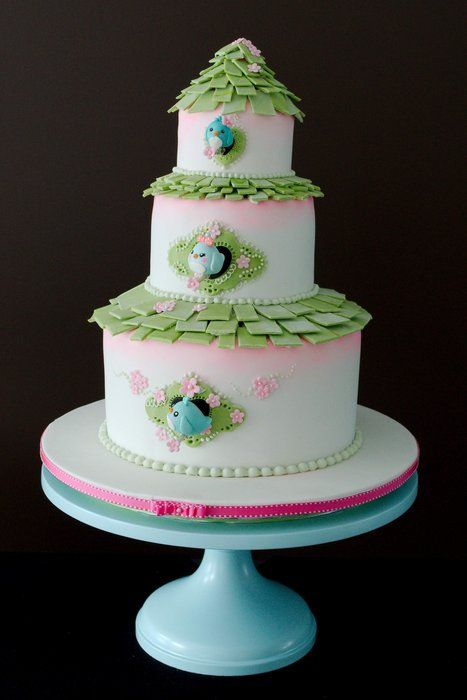 53 Best Cakes Too Neat To Eat Birds Bees Butterflies And Gardens Images On Pinterest