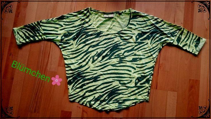 Neon grünes Damen T-shirt oversize, Croptop von Maison Scotch