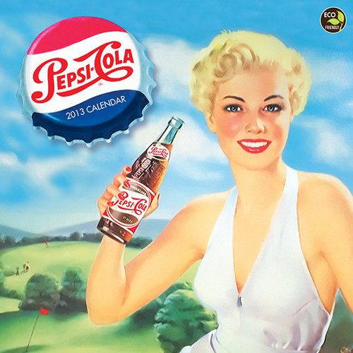 Pepsi Wall Calendar: Enjoy a year traveling through Pepsi's refreshing heritage. Their rich history in American culture is a story told throughout its vibrant graphic archives. Spanning more than a century, Pepsi's campaigns have made the beverage a true pop culture icon.  $13.99  http://www.calendars.com/Vintage-Food-Advertising/Pepsi-2013-Wall-Calendar/prod201300010799/?categoryId=cat00127=cat00127#