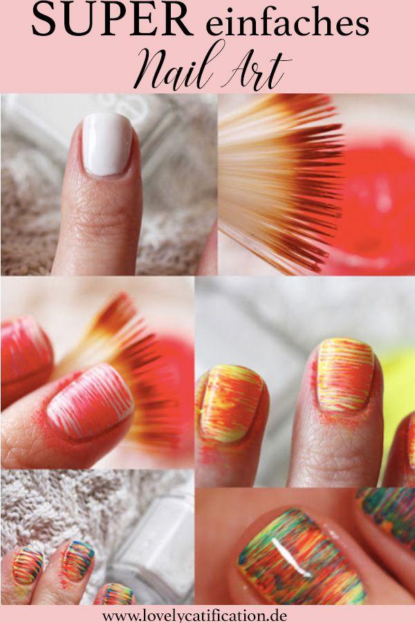 Super einfaches und schnelles Nail Art mit einem Farn Brush! Unbedingt ansehen! Mit einem einfachen Pinsel und Farben eurer Wahl, könnt ihr dieses schnelle Nageldesigns ganz einfach nachmachen! Jetzt ansehen: Lovelycatification.de