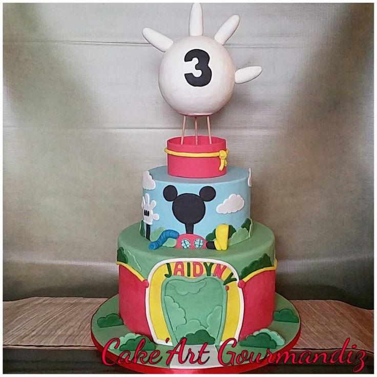Gâteau d'anniversaire la maison de Mickey  #mickeymouse #mickeymousecake #lamaisondemickey