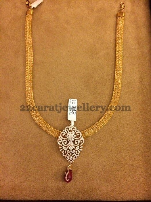 Detachable Simple Diamond Lockets | Jewellery Designs