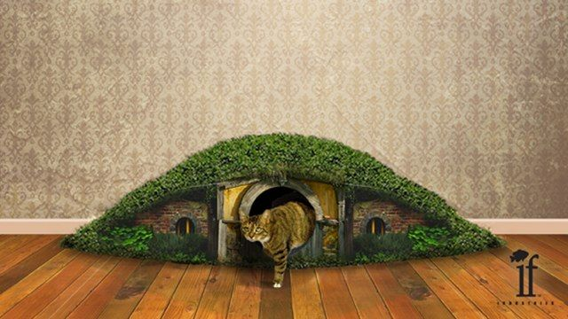"""The """"Hobbit Hole Litter Box"""" is even more beautiful than we imagined"""