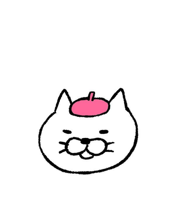 白猫の野望(GIFアニメ)