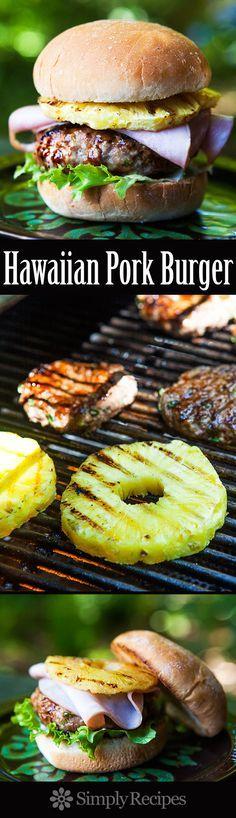 Hawaiian Pork Burger Recipe — Dishmaps