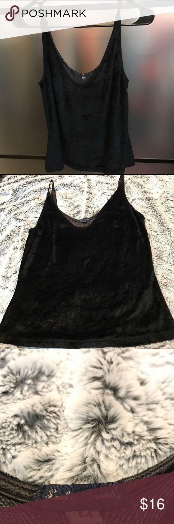 Lucky brand blouse Lucky brand velvet blouse Lucky Brand Tops Blouses