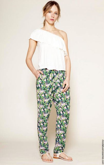 Pantalones primavera verano 2018 ropa de mujer.