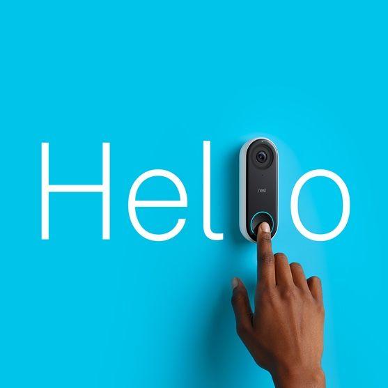 Dit is de Nest Hello-videodeurbel, verkrijgbaar in het eerste kwartaal van 2018. Hij combineert het gemak van een videodeurbel met de beeldkwaliteit en de intelligentie van een Nest Cam.