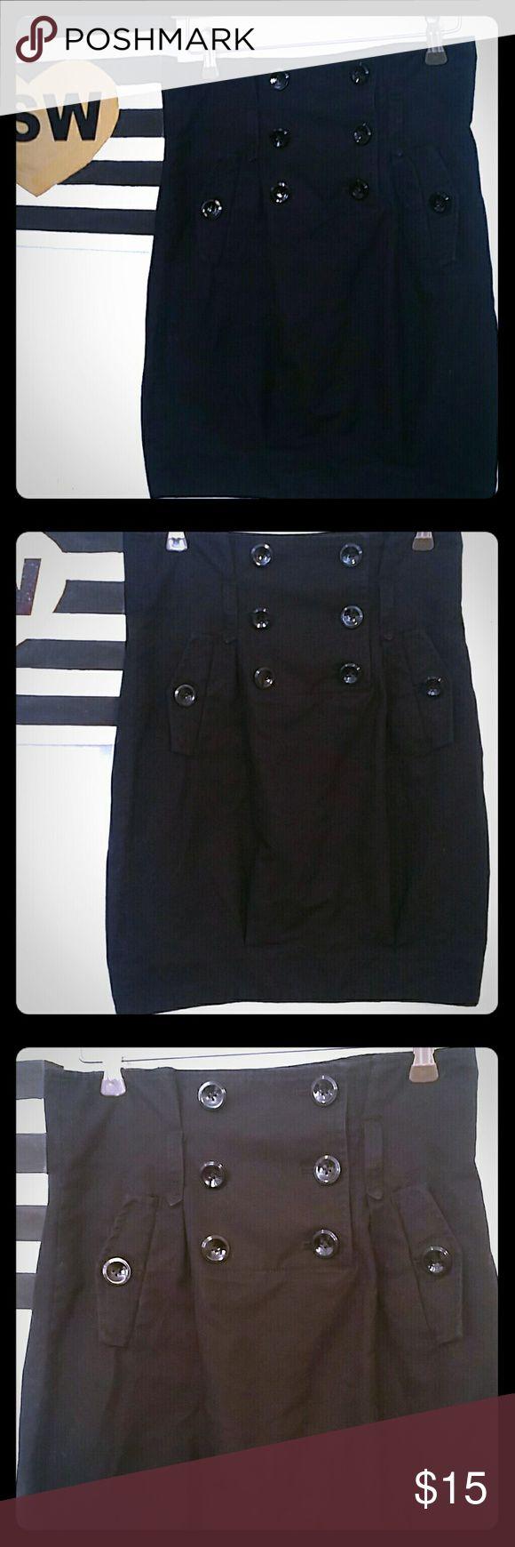 ARMANI EXCHANGE BUTTON BLACK SKIRT SIZE 0 ARMANI EXCHANGE BUTTON BLACK SKIRT SIZE 0 sold as is, in good pre-loved condition Armani Exchange Skirts Mini