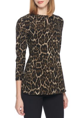 Anne Klein Women's Animal Print Tunic - Tyrol Combo - Xl