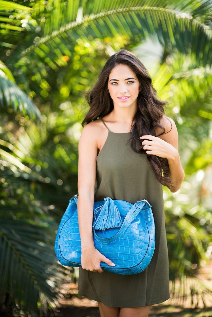 Zambezi Grace   The Ariana  Premium Nile Crocodile handbag