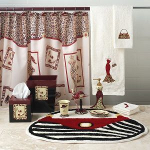 Leopard And Red Bathroom Ideas