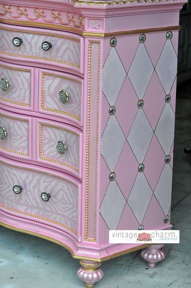 Wow! They took it from beautiful to gorgeous! Took my breath away!! hand painted princess furniture, painted furniture, painting, repurposing upcycling