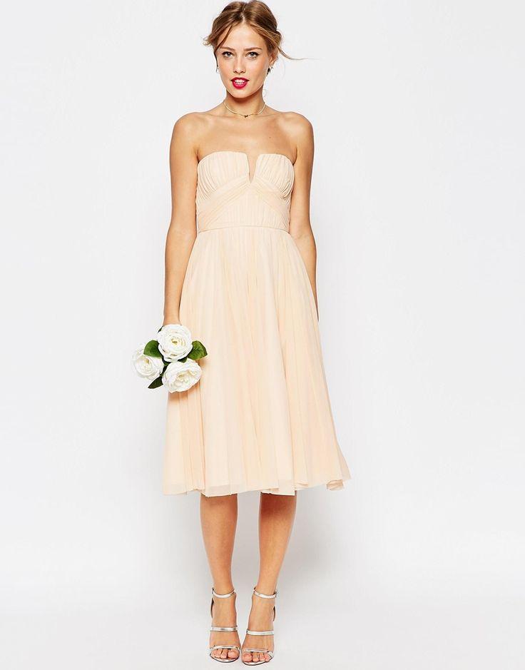 Wedding robe mi longue corsage bandeau fronc for Don de robe de mariage michigan