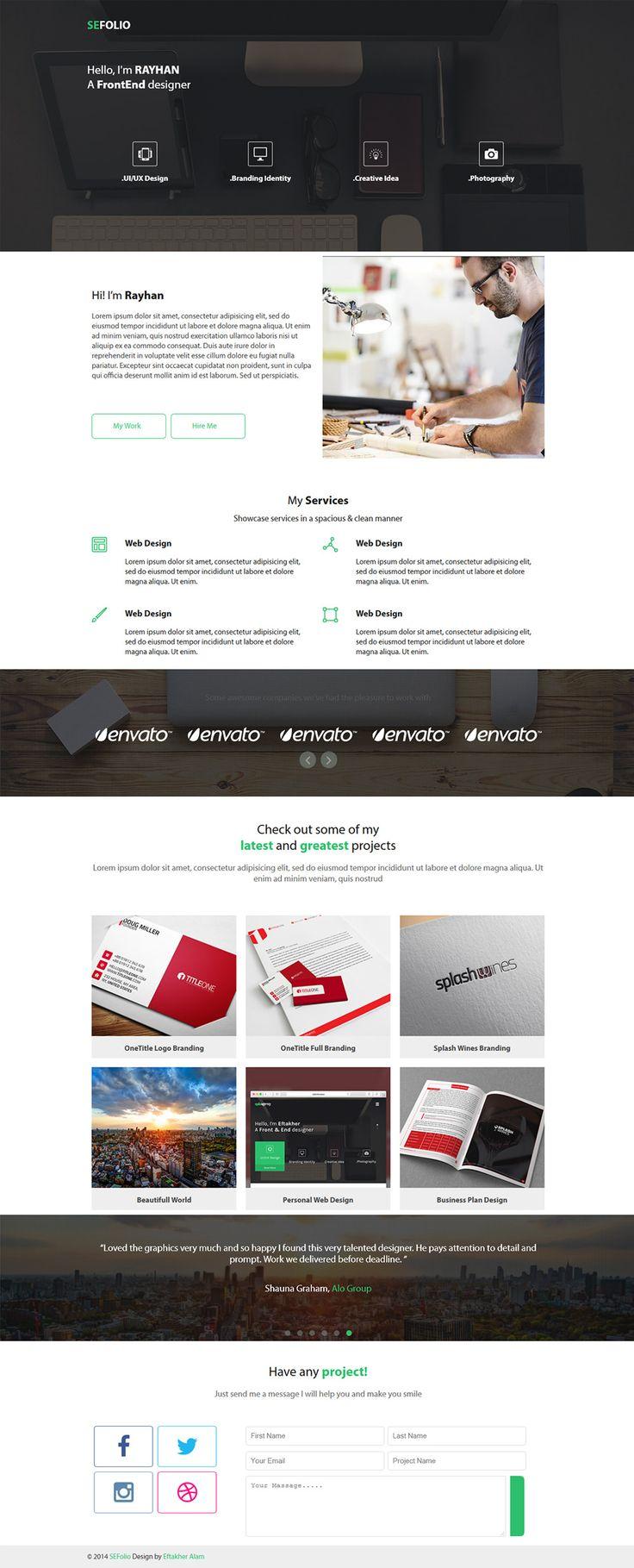 Free Portfolio Website Templates (PSD)