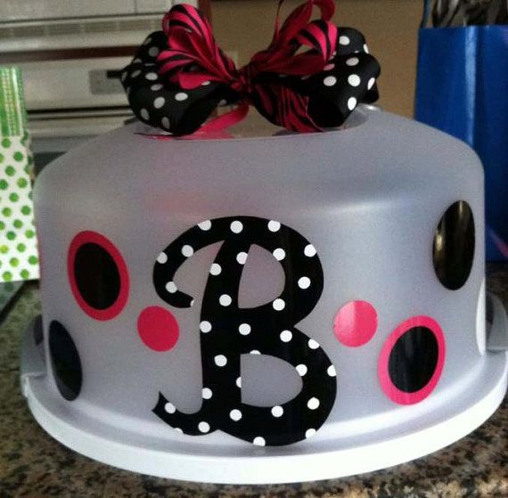 Toni, this would be something cool for you to add to your idea box. Personalized Cake carrier-house warming gift.