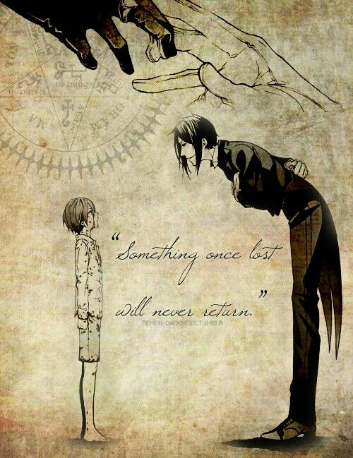 """Something lost will never return..."""