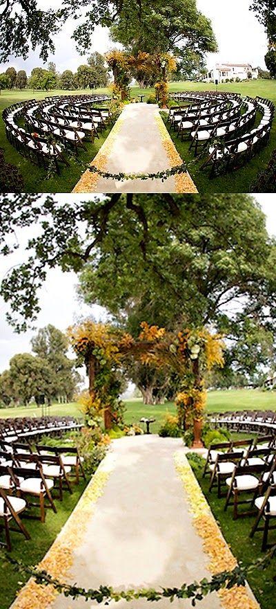 DIY Decoração: Casamentos ao ar livre