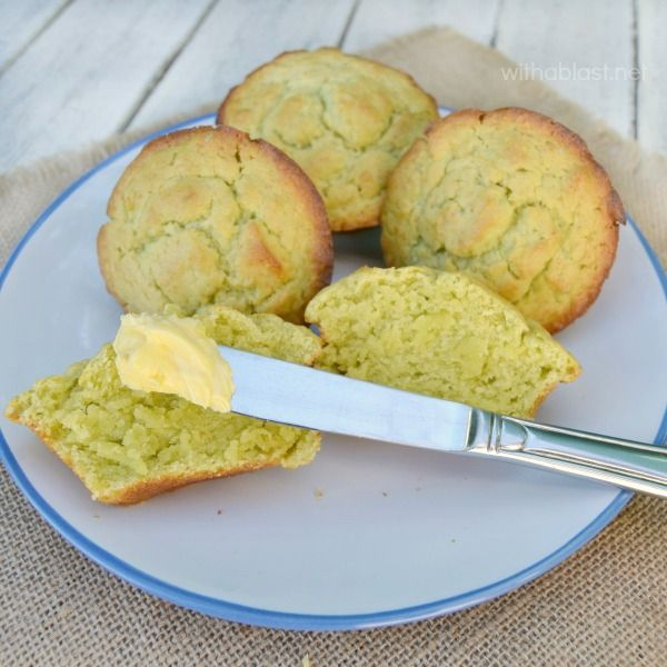 BEST Avocado Muffins ~ These Avocado Muffins are ideal for breakfast, brunch, lunch or a tea-time treat ! All that's needed is a bit of Butter and you are set !