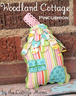 tutorial with pattern: Cottage Pincushion, Free Pattern, Pin Cushions, Tutorial, Pincushions, Cottages, Riley Blake