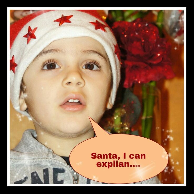 Santa, I can explain. ...