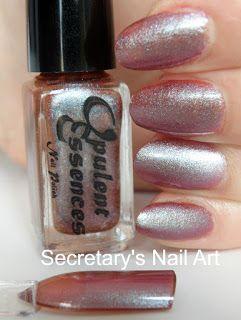 Secretary`s Nail Art: Opulent Essences - Chameleon Red