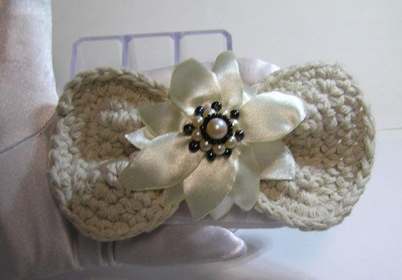 hand made crochet BOW BARRETTE hair pieces by rankaswedding