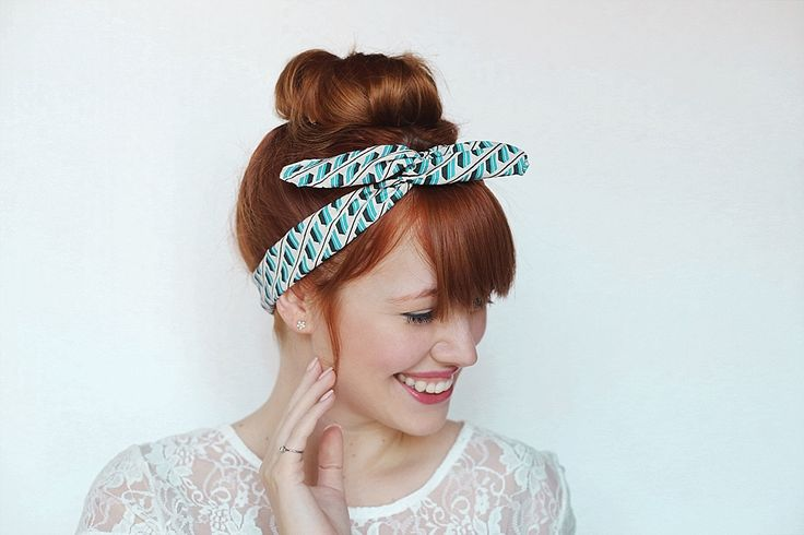 10-Minute DIY: Make a Headband Out of Wire + Fabric Scraps via Brit + Co.