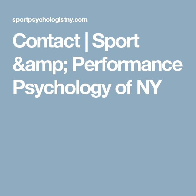 Contact | Sport & Performance Psychology of NY