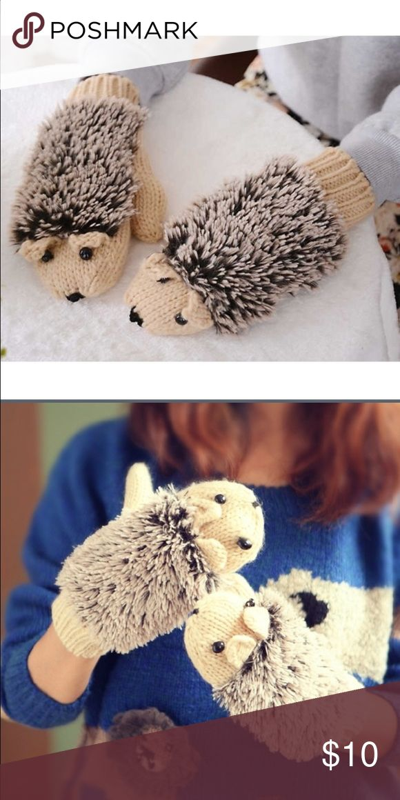 🆕! Adorable Hedgehog Mittens! 😍 Soft and cozy Hedgehog Mittens! 😍 Makes the perfect stocking stuffer 😍 No Trades 😍 Price Firm unless bundled 😍 Accessories Gloves & Mittens