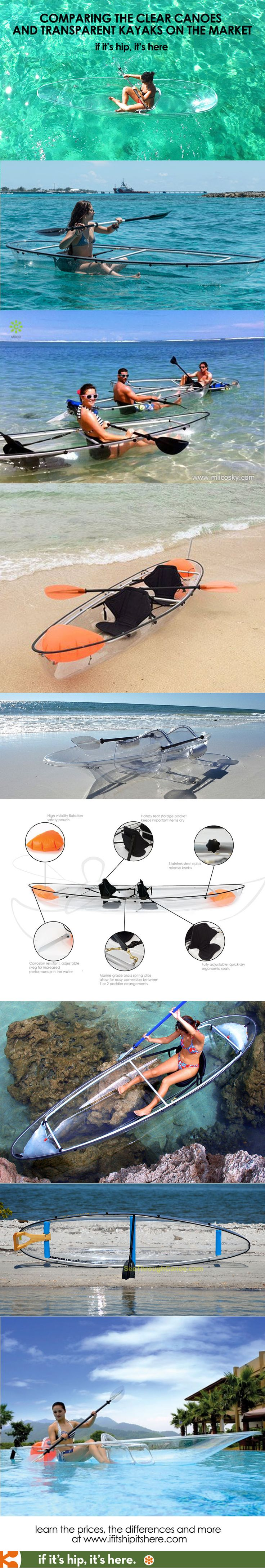 Looking for a clear canoe or transparent kayak? here's all you need to know. http://www.ifitshipitshere.com/totally-transparent-canoes-and-kayaks/
