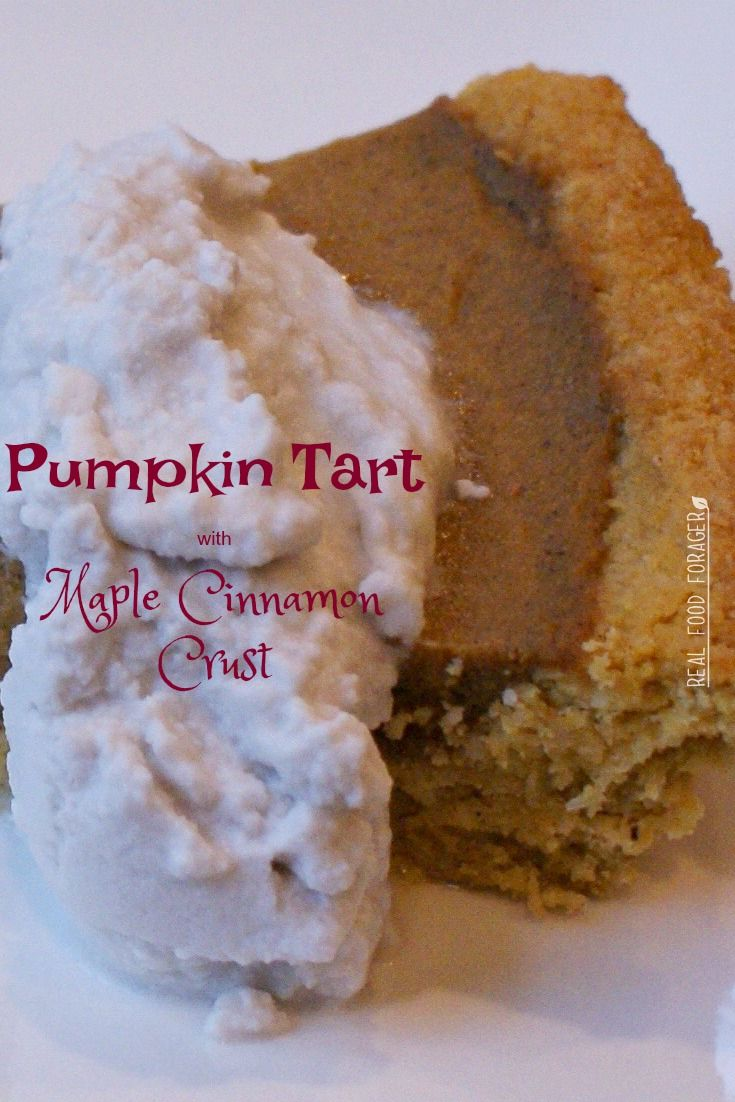 Pumpkin Tart with Maple Cinnamon Crust (Paleo, SCD…