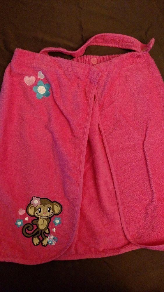 St. Eve Girl's Bath Body Wrap Pink Monkey Size M/M #StEve #Everyday